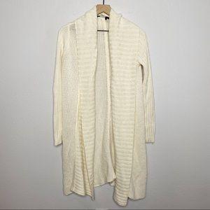 [BCBG] Ivory Shawl Collar Long Duster Cardigan